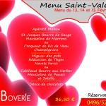 Menu ST Valentin 2015